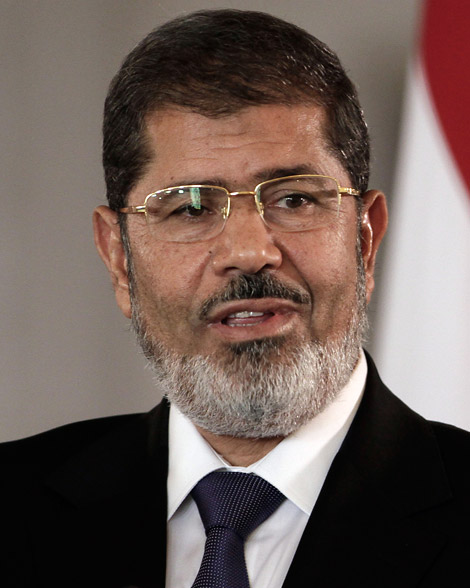 Mohamed Morsi, primer presidente de Egipto electo democráticamente, además del primer civil.Fuente: TIME