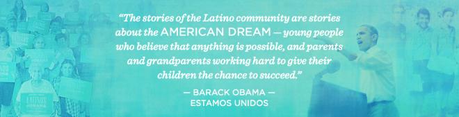 Parte de la campaña de Obama hacia la comunidad latina.Fuente: Latinos for Obama
