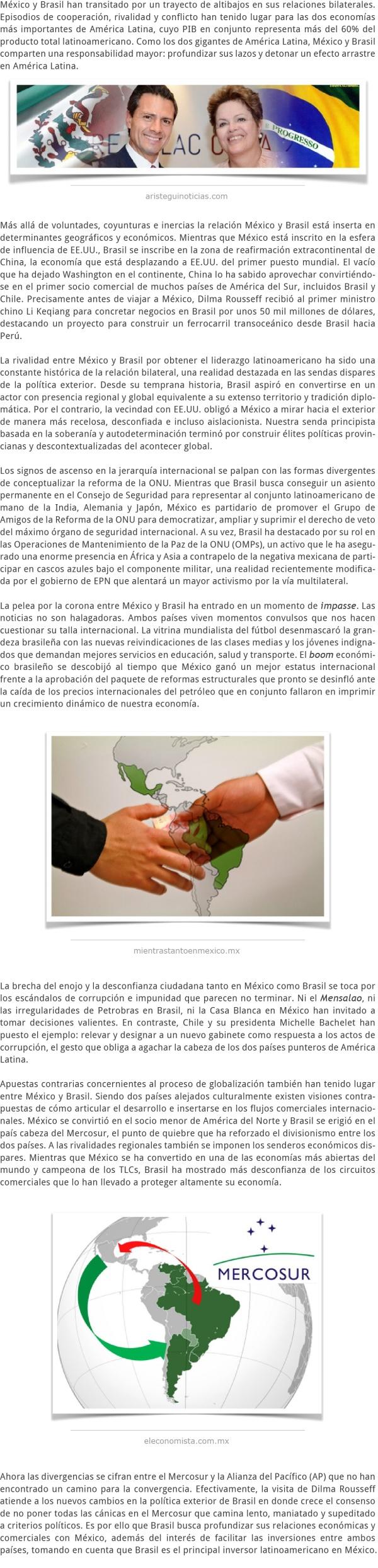 LA VISITA DE ESTADO DE DILMA ROUSSEFF A MÉXICO