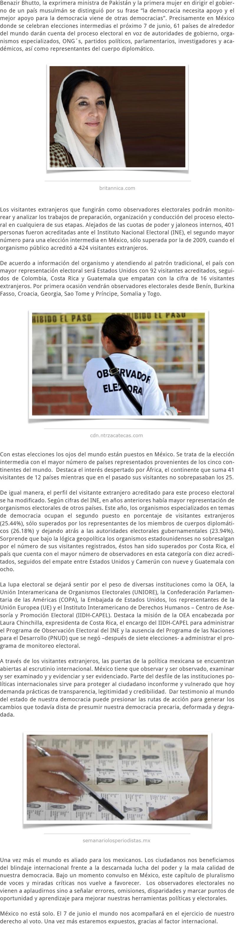 #ELECCIONES2015 EL BLINDAJE INTERNACIONAL