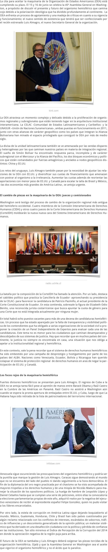 LA REINGENIERÍA DE LA OEA EL DEBUT DE LUIS ALMAGRO