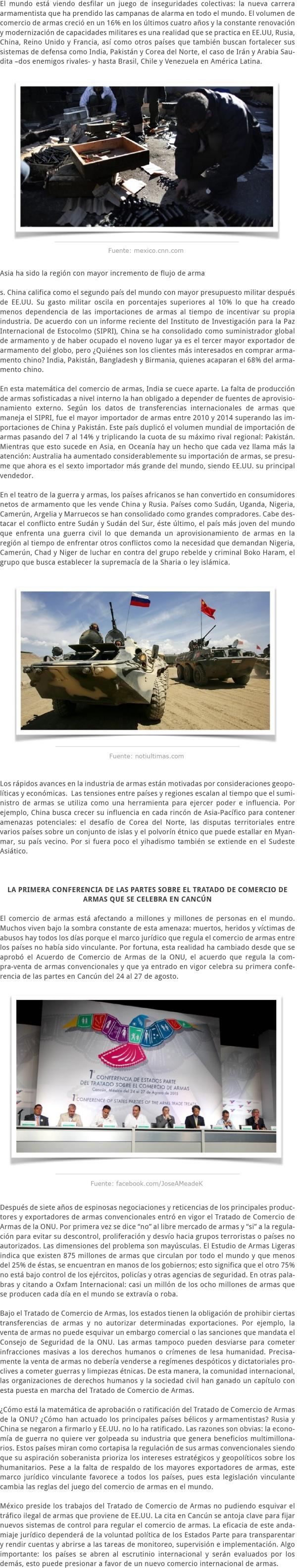 EL COMERCIO MUNDIAL DE ARMAS