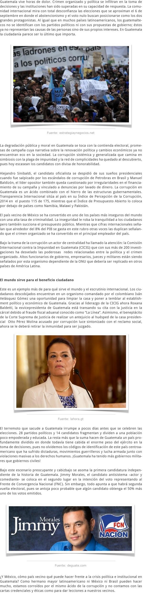 LA CRISIS SOLITARIA DE GUATEMALA