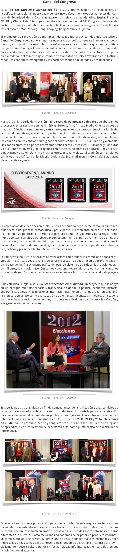 2012-2015 ELECCIONES EN EL MUNDO