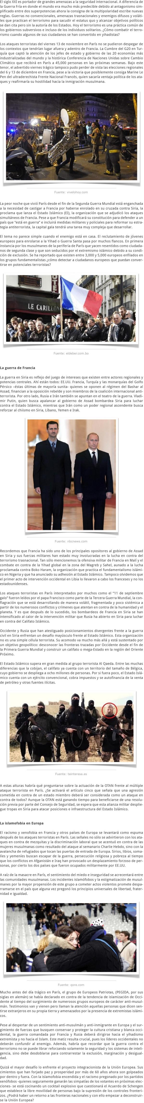 FRANCIA ¿DURMIENDO CON EL ENEMIGO
