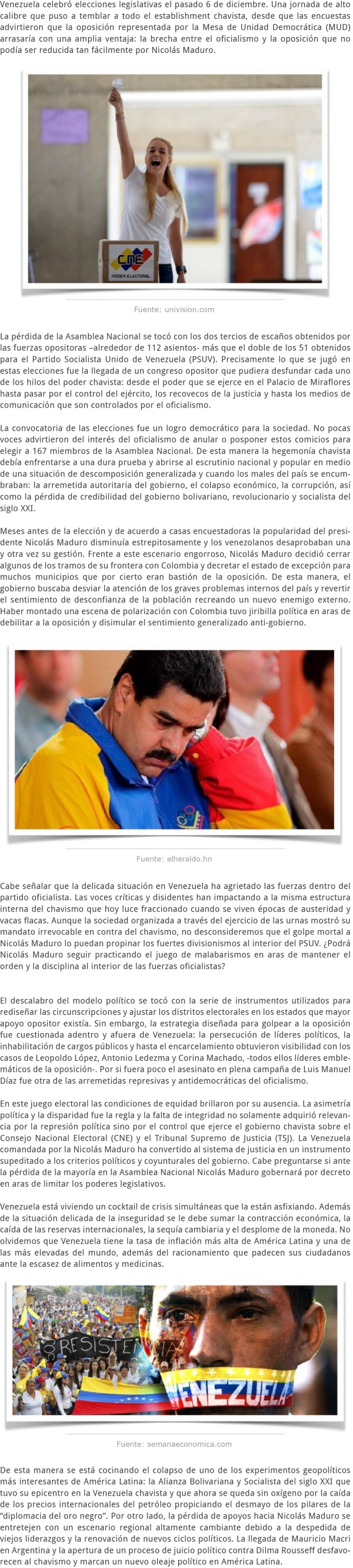 ¿EL PRINCIPIO DEL FIN DEL CHAVISMO EN VENEZUELA
