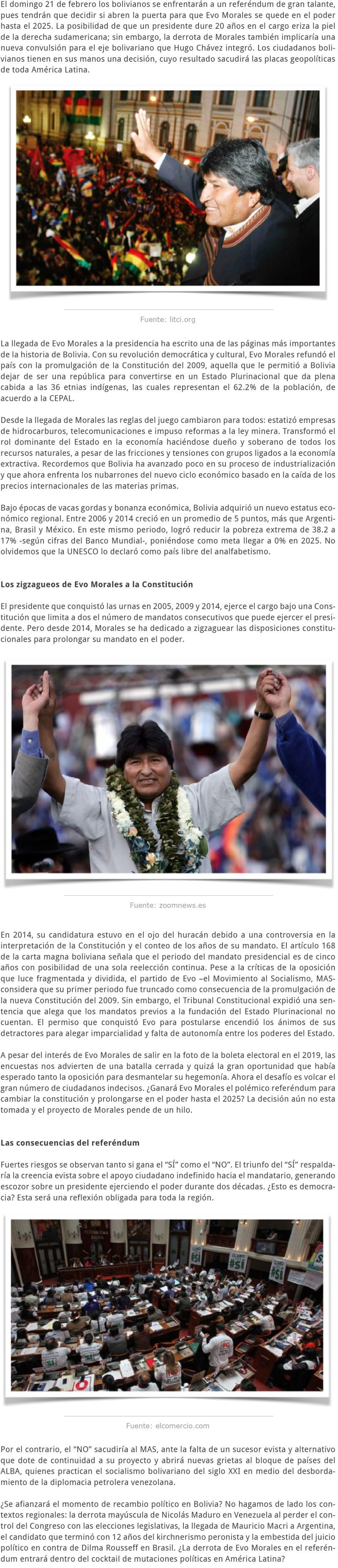 BOLVIA UN NUEVO NODO DEL RECAMBIO POLÍTICO EN AMÉRICA LATINA