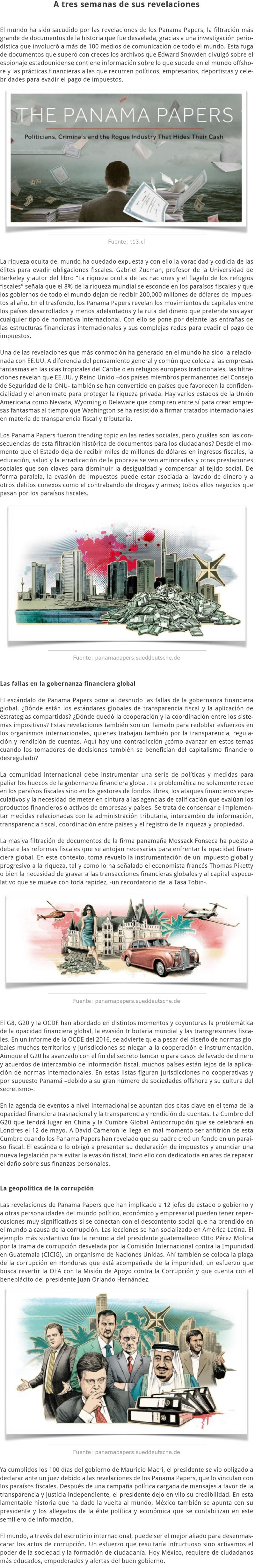 LAS IMPLICACIONES GLOBALES DE LOS PANAMA PAPERS
