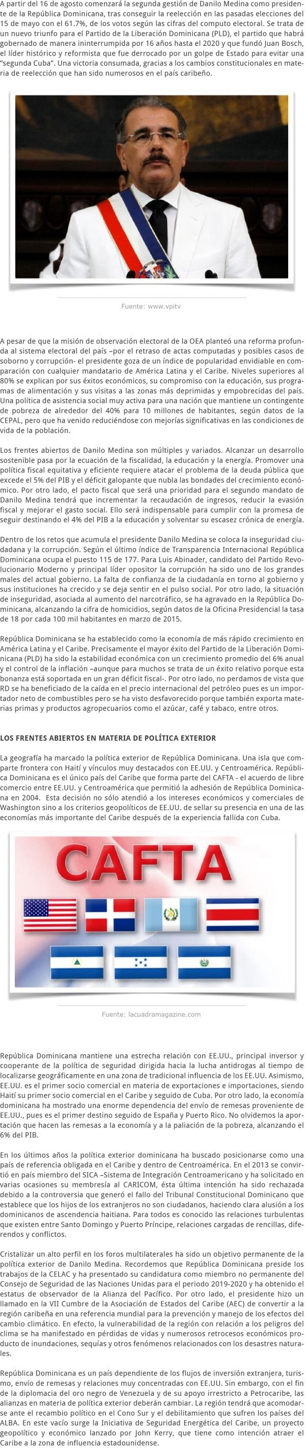 LA TOMA DE PROTESTA DE DANILO MEDINA COMO PRESIDENTE EN REPÚBLICA DOMINICANA